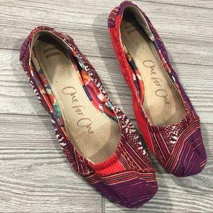 Toms • Lina Woven Ballet Flats